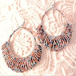 Icon Collection Earrings Pastel Multi Seed Beaded
